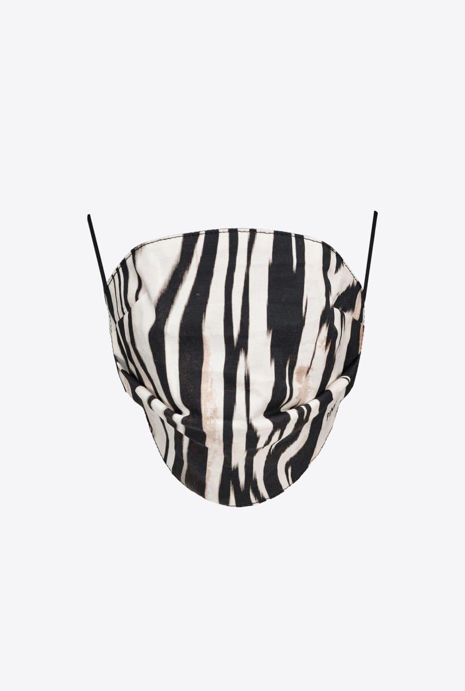Zebra-print face mask - Pinko