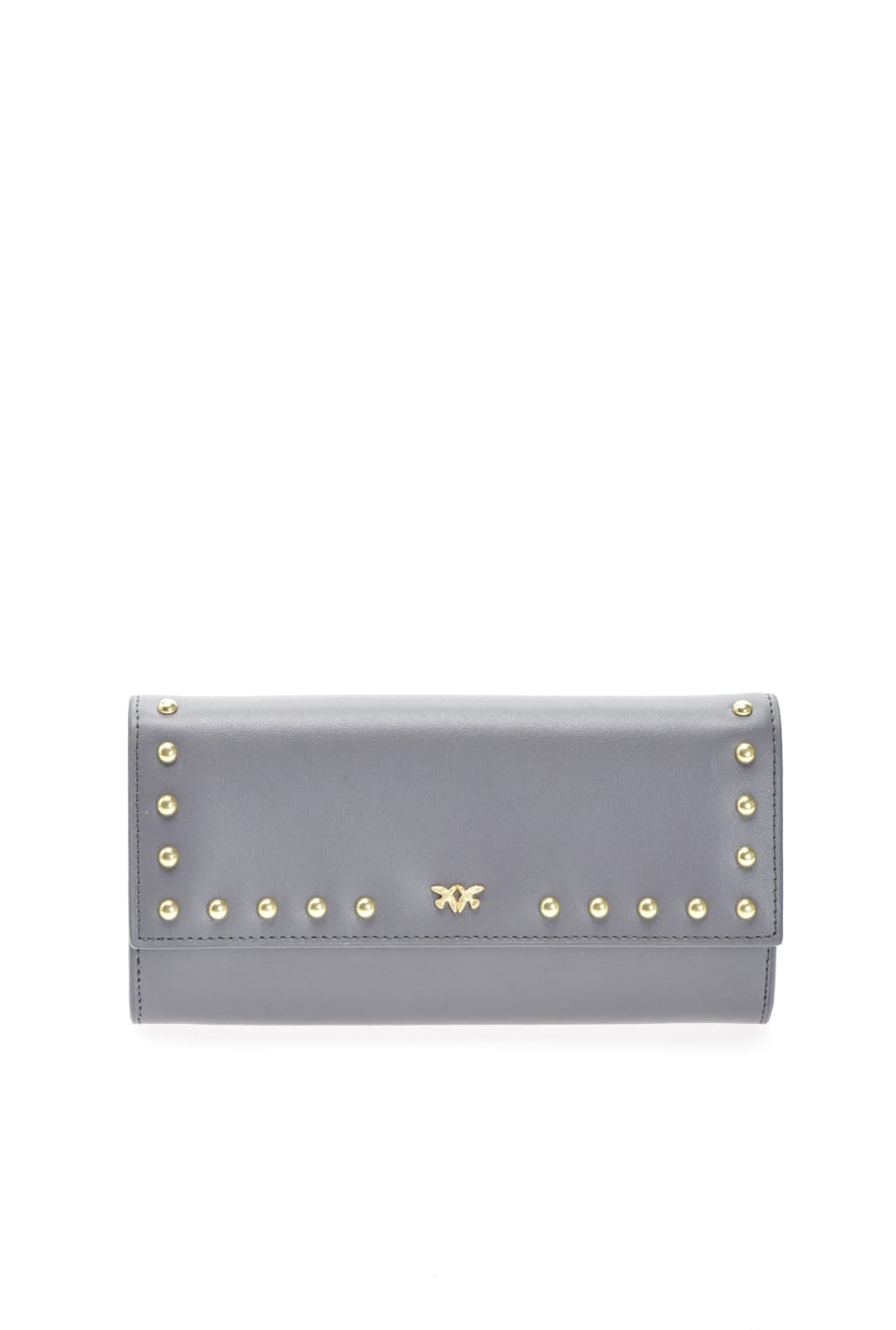 Continental leather wallet with studs - Pinko