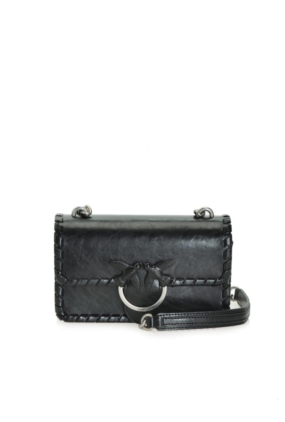 Mini Love Bag Twist de piel