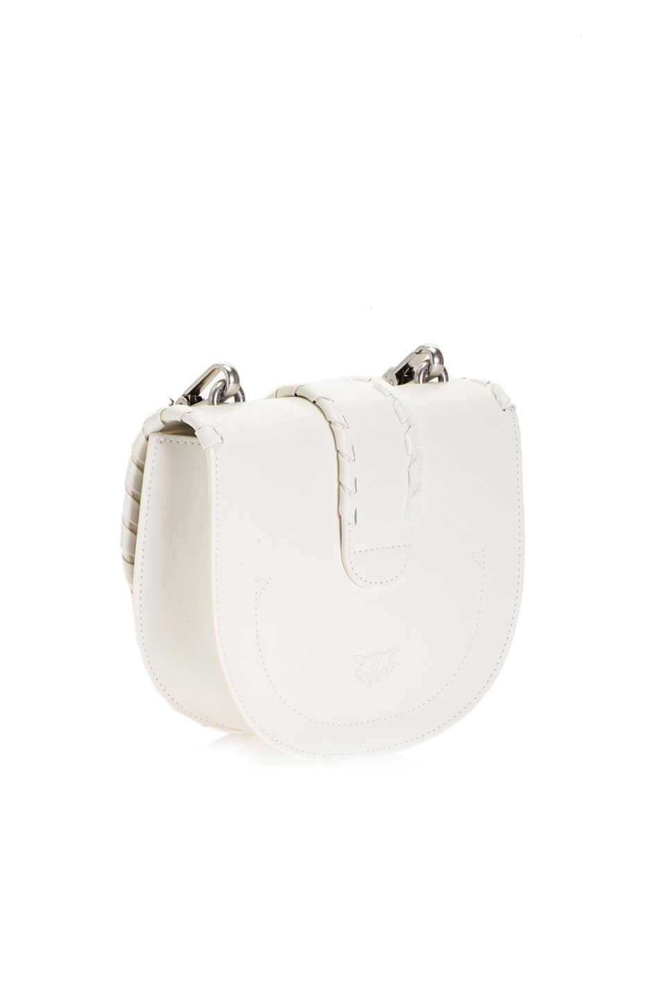 Round Love Bag Twist en cuir