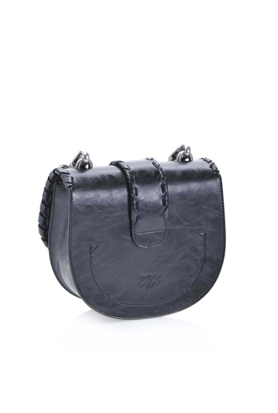 Round Love Bag Twist in leather