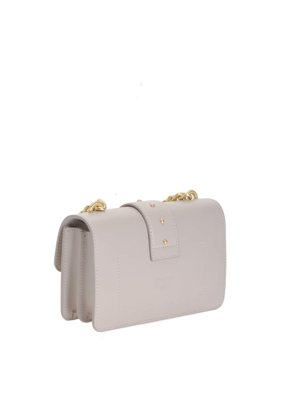 レザーのシンプルミニLOVEバッグ