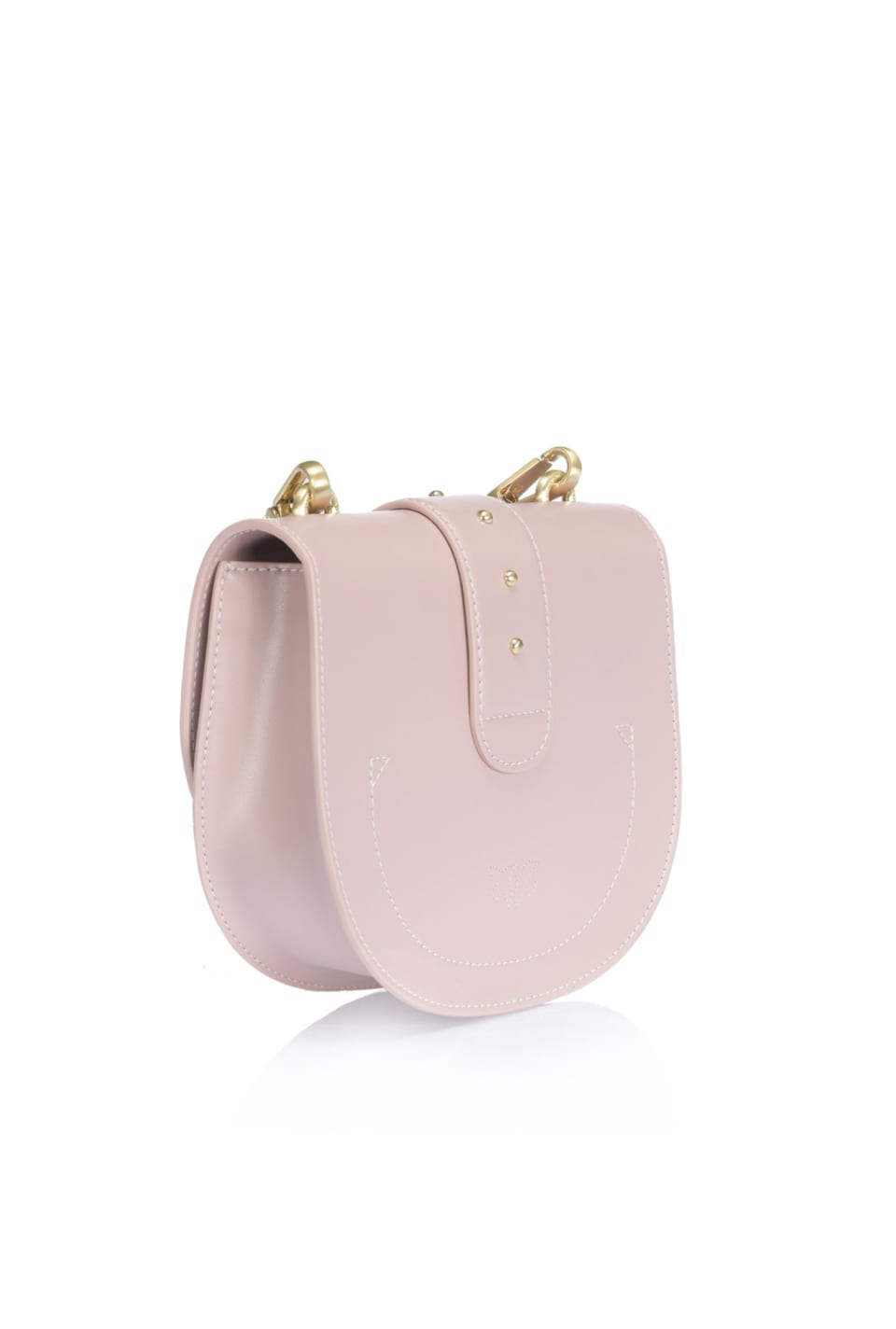 Simply Round Love Bag in leather