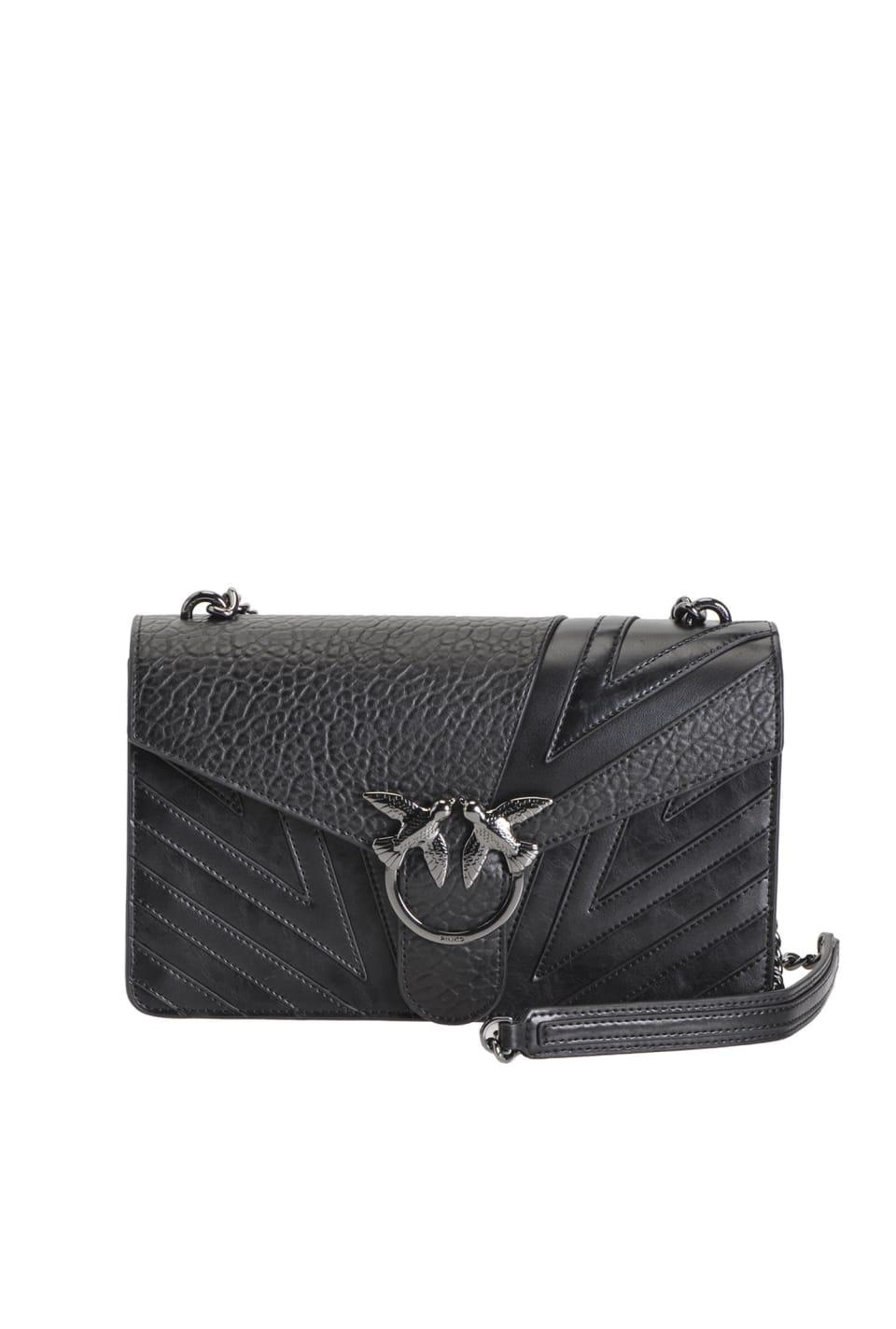 Love Bag Chevron de piel con textura elefante