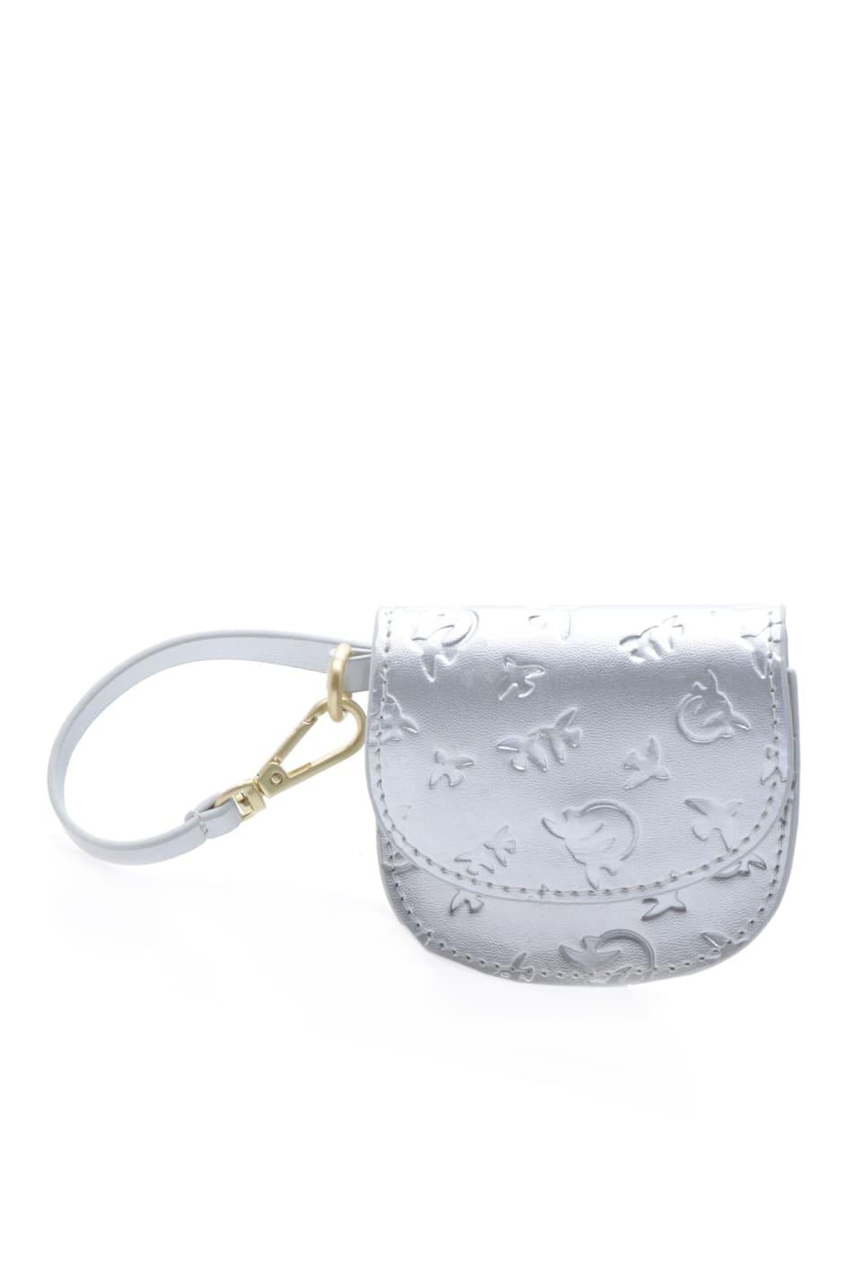 Baby Charm Bag de piel laminada