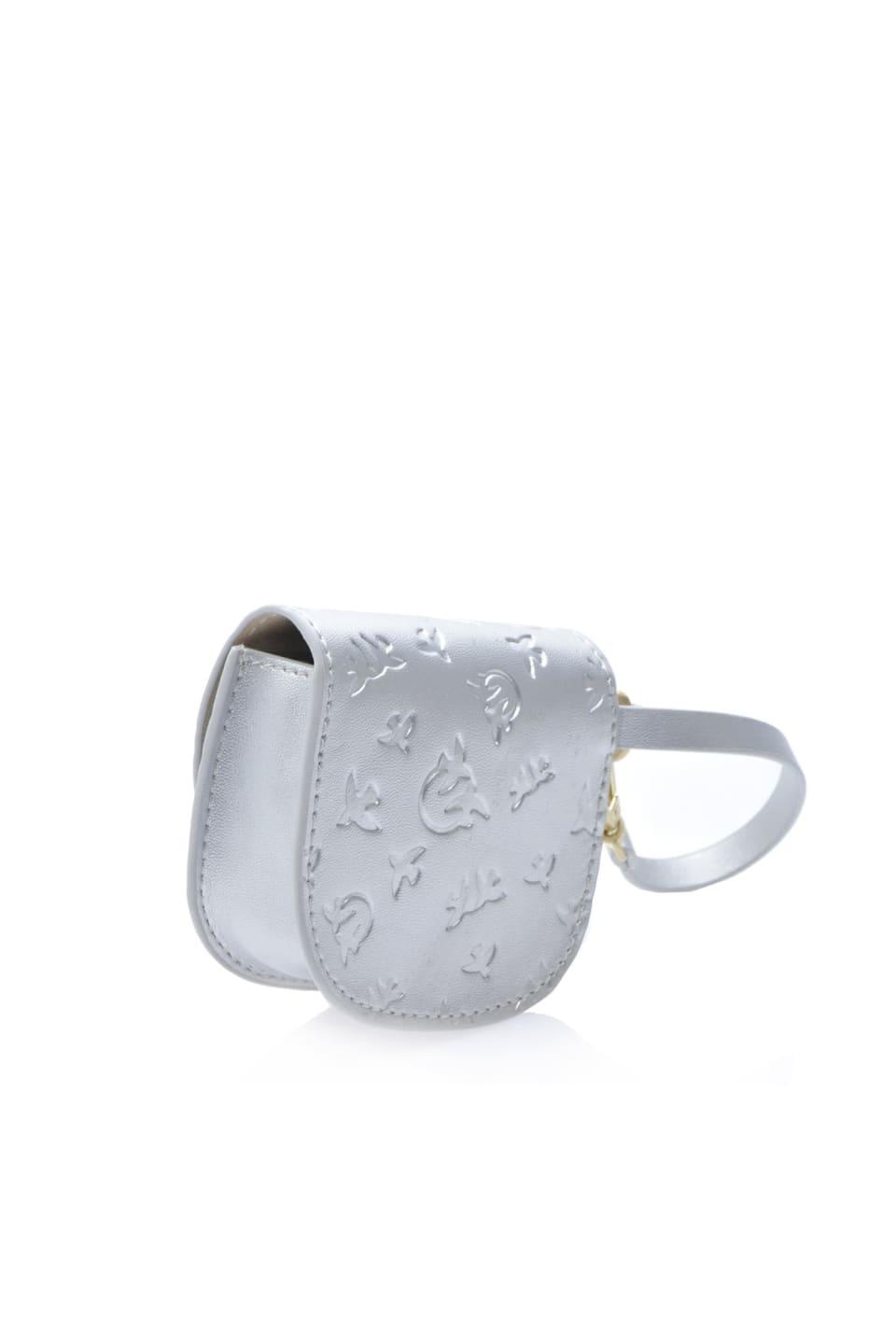 Baby Charm Bag en cuir lamé