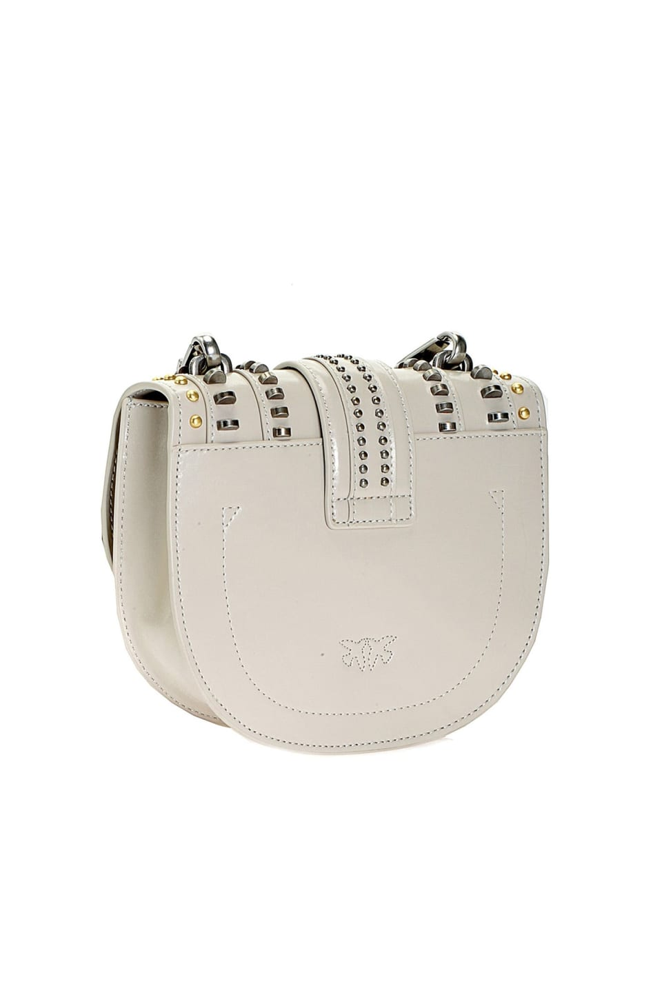 Round Love Bag Mix Studs en cuir