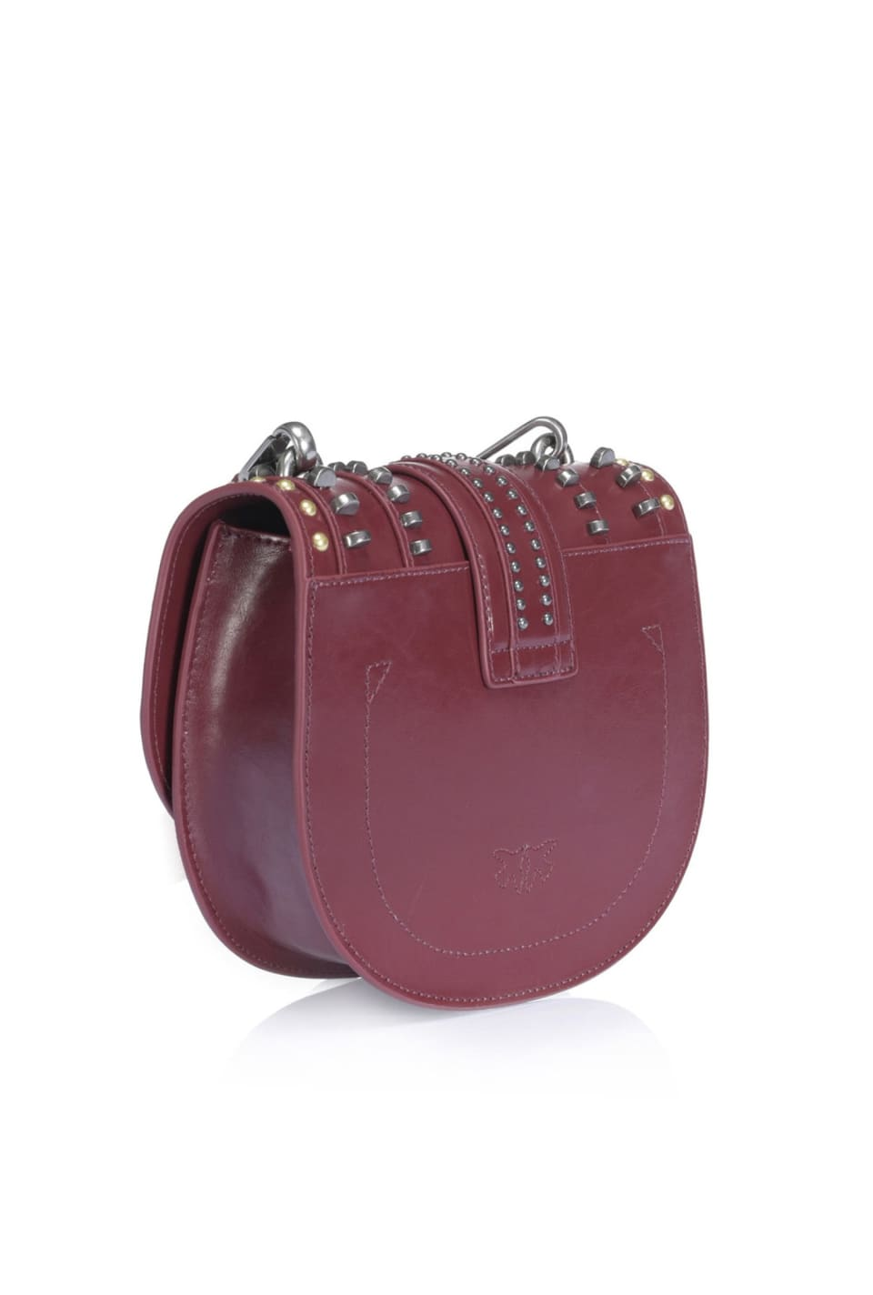 Round Love Bag Mix Studs in pelle