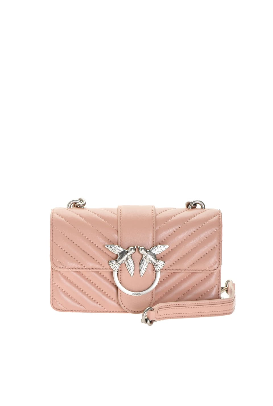 Mix Mini Love Bag in quilted nappa