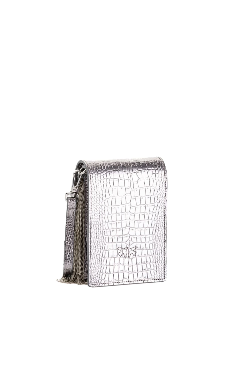 Smart Bag Metal Fringes en cuir - Pinko