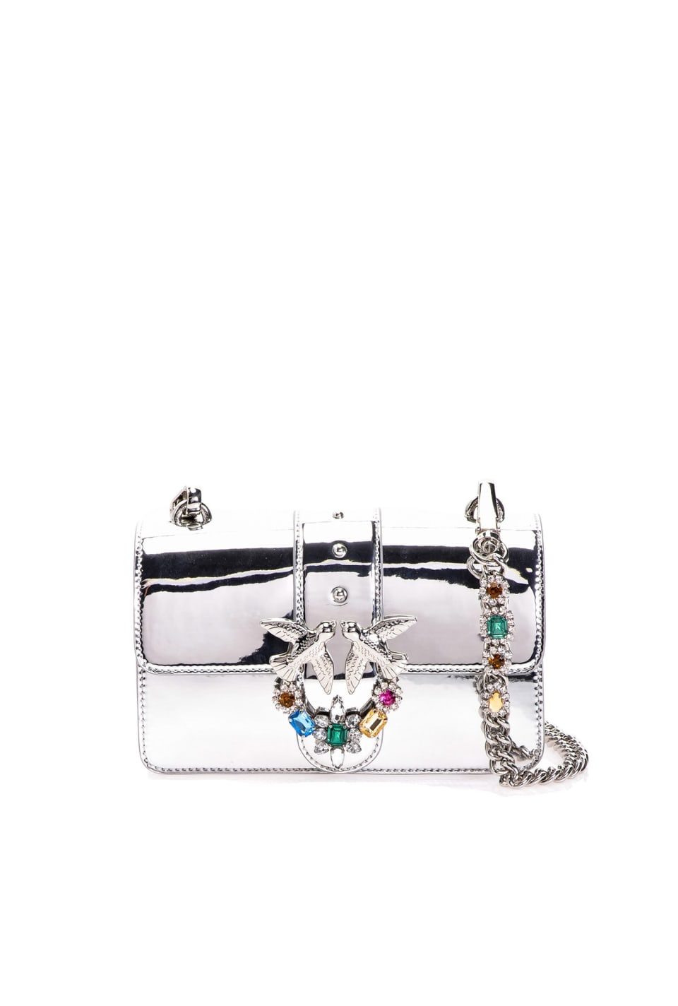 Mini Love Bag Jewels effetto specchiato