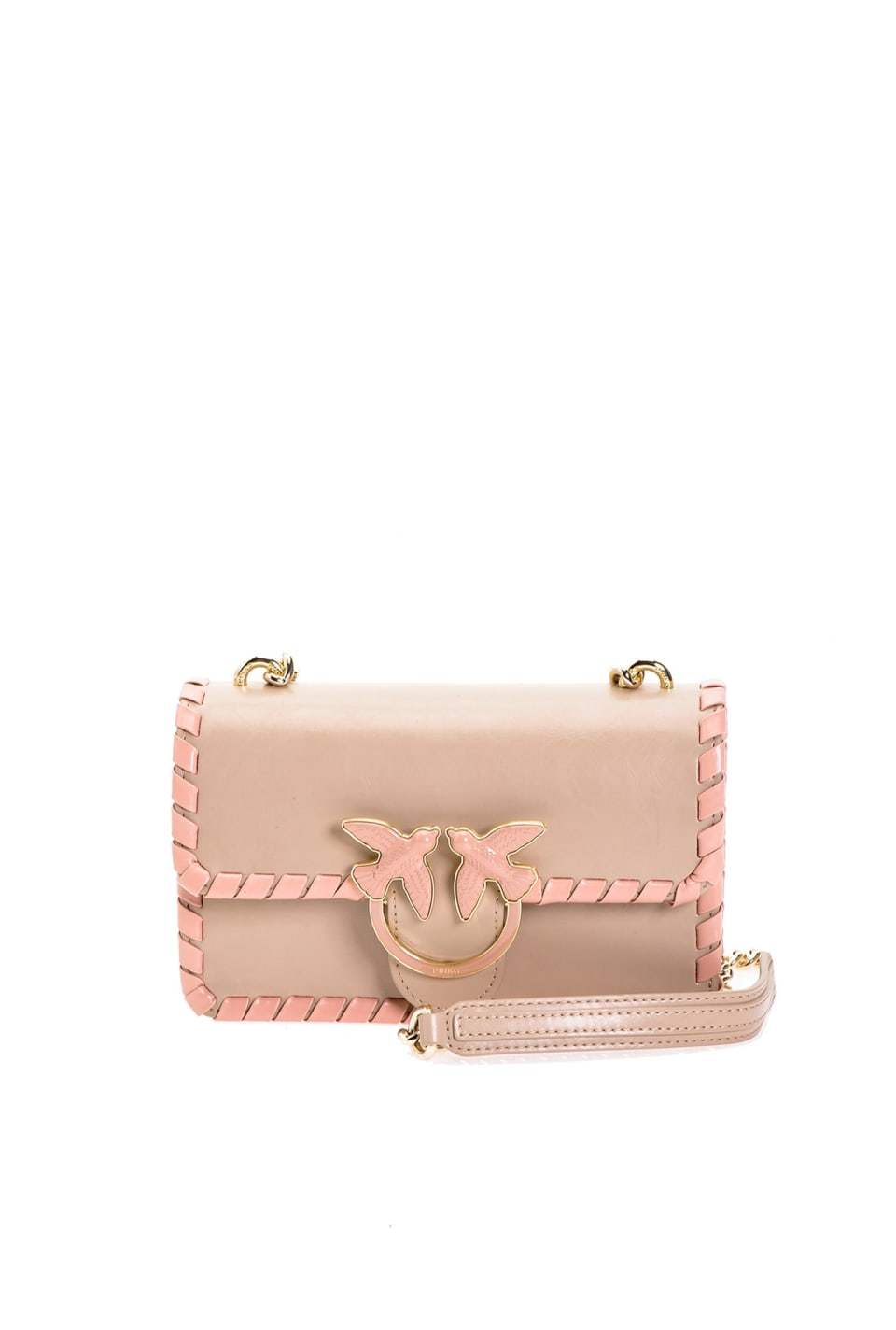 Mini Love Bag Twist en cuir