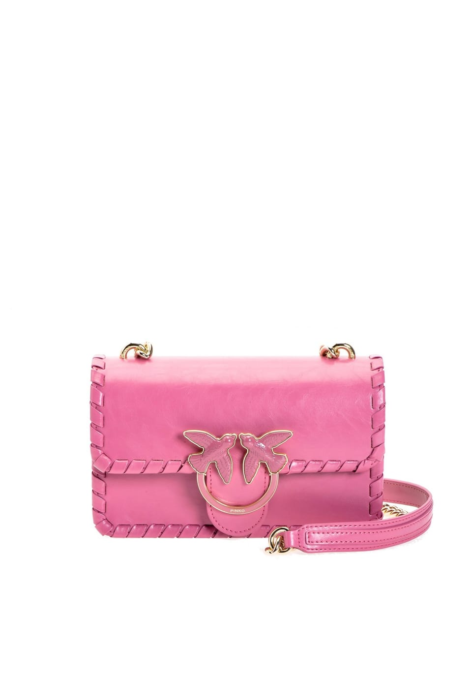 Mini Love Bag Twist in leather - Pinko