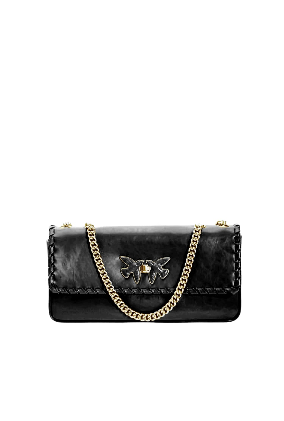 Pochette Maxi Bag Twist in leather
