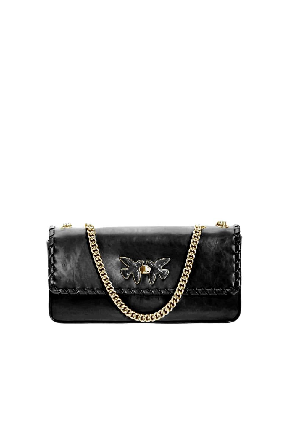 Pochette Maxi Bag Twist in pelle