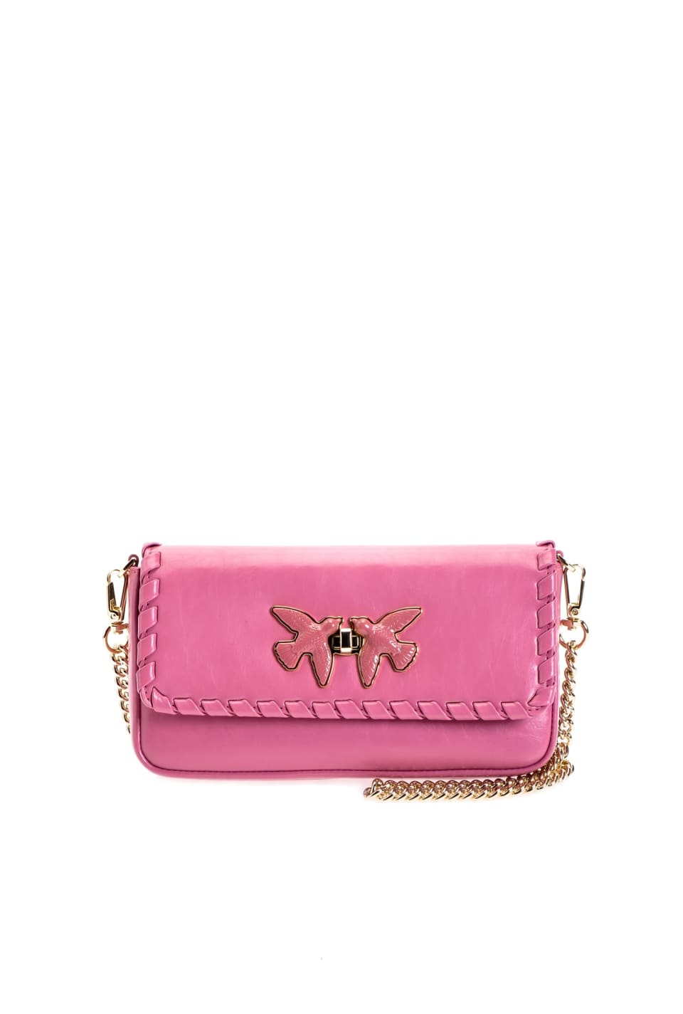 Pochette Mini Bag Twist en cuir