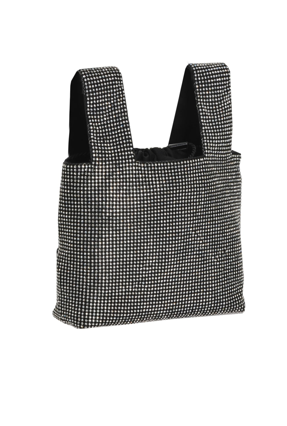 Full rhinestone mini shopper bag