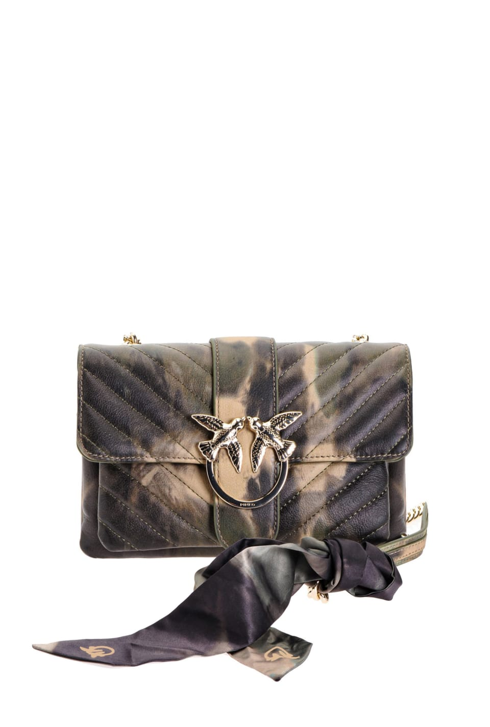 Mini Love Bag Soft Sunset en cuir nappa