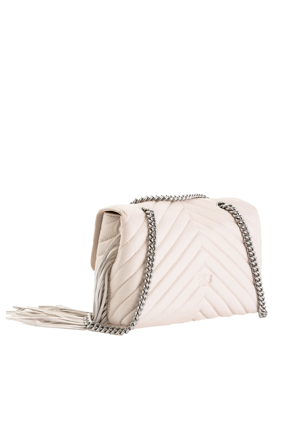 Love Bag Puff Fringes in nappa leather - Pinko