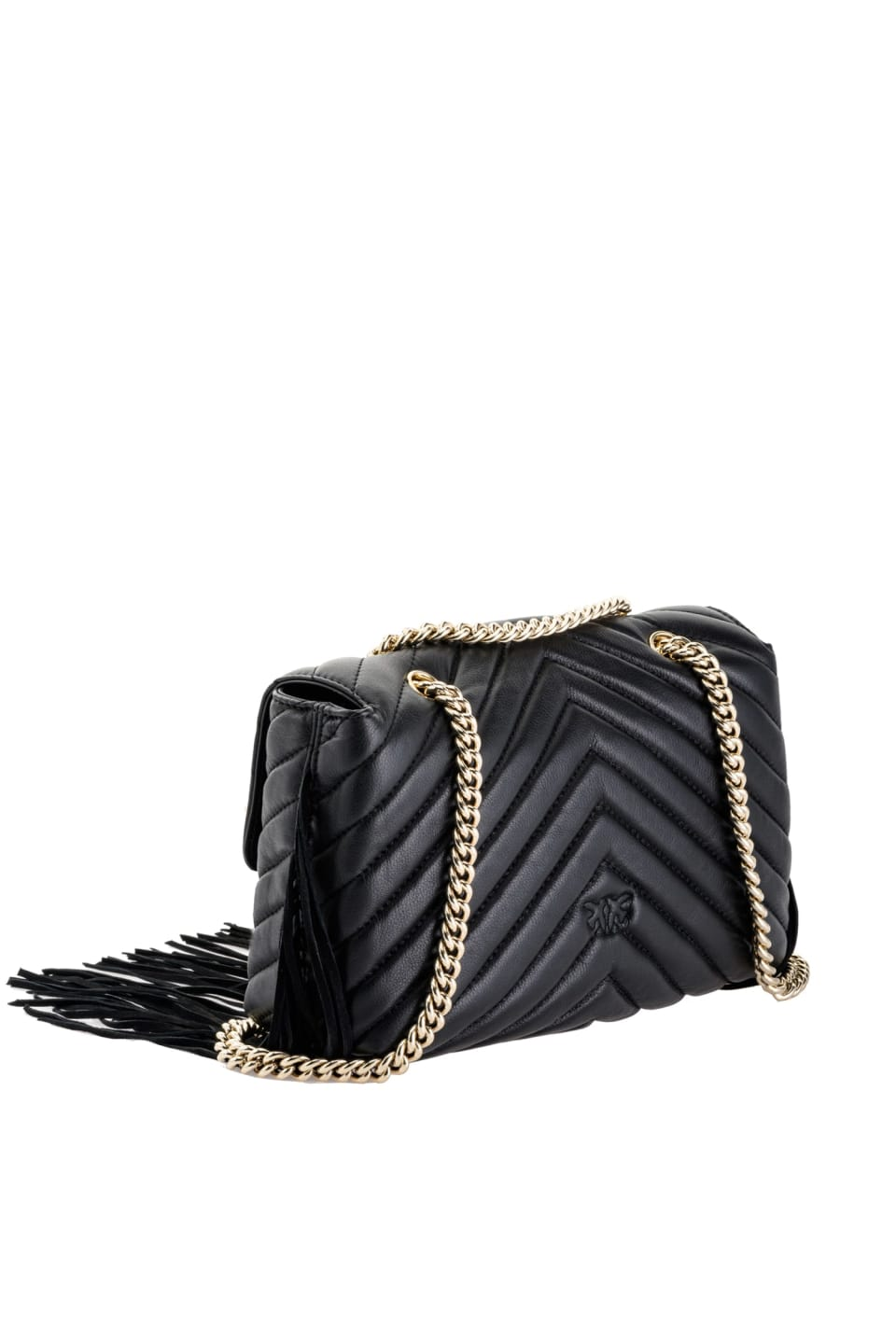 Love Bag Puff Fringes en cuir nappa