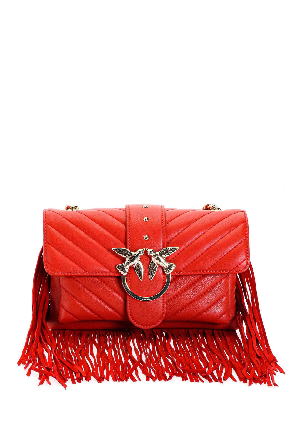 Mini Love Bag Soft Fringes in nappa leather