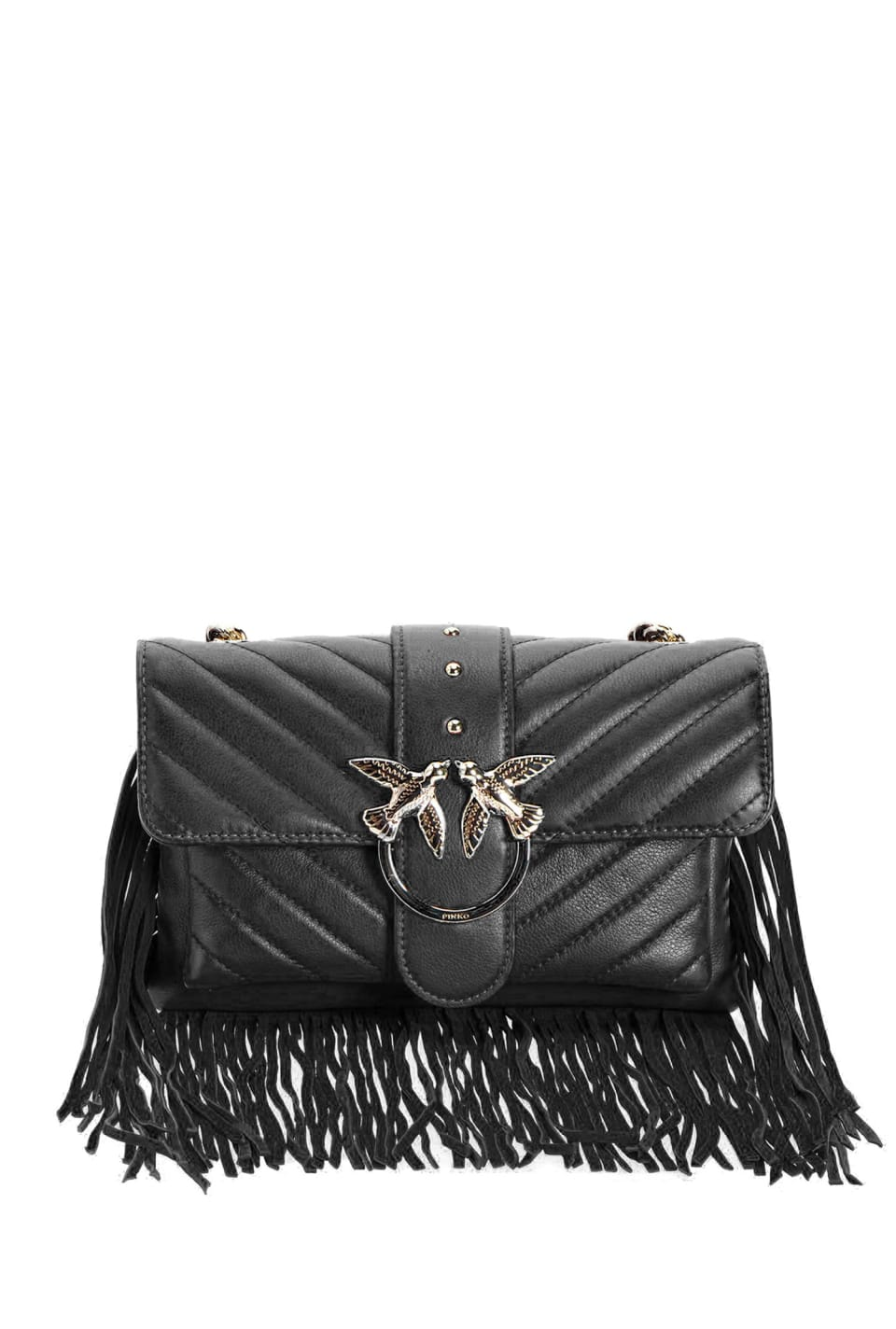 Mini Love Bag Soft Fringes in nappa