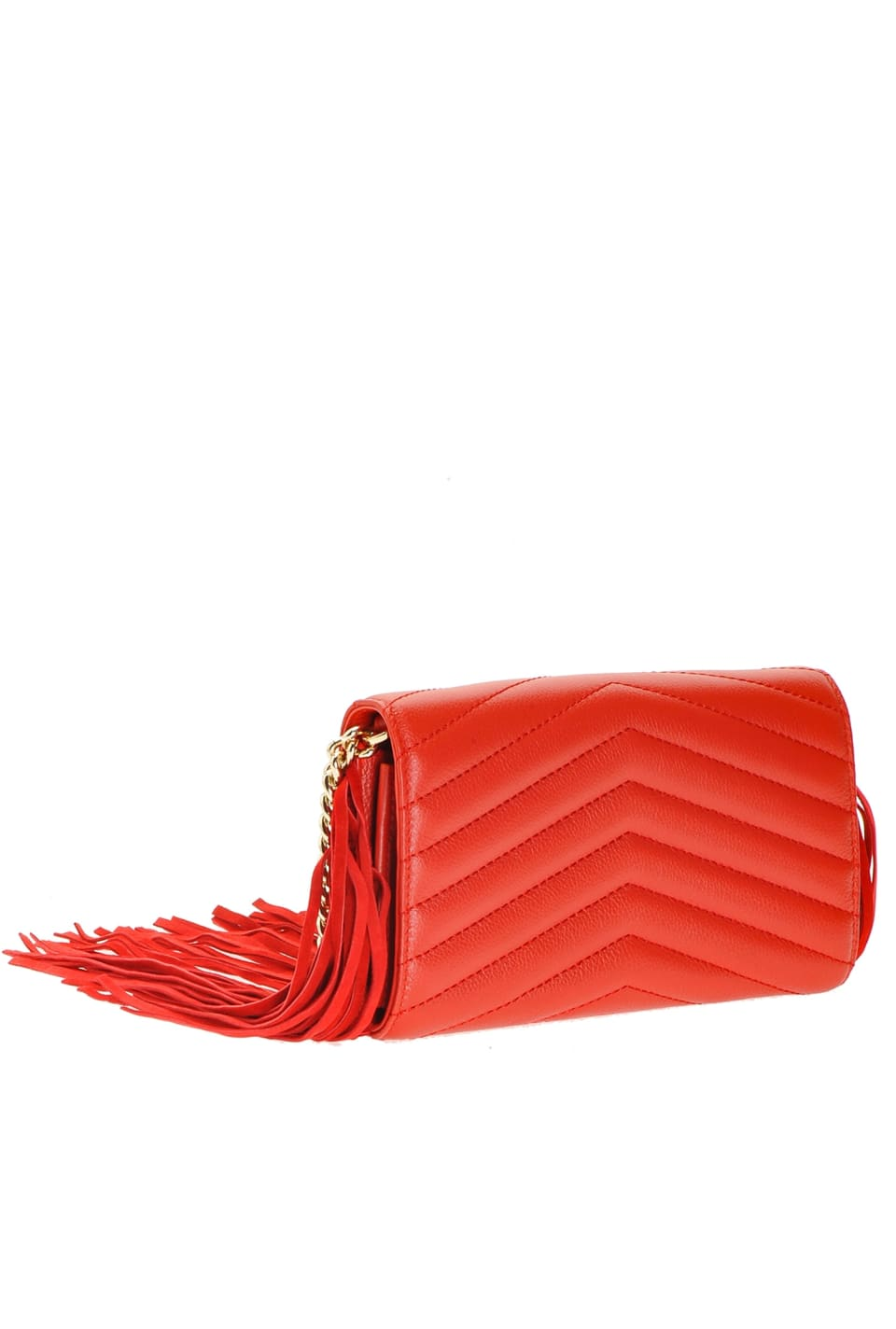 Shoulder wallet with fringe