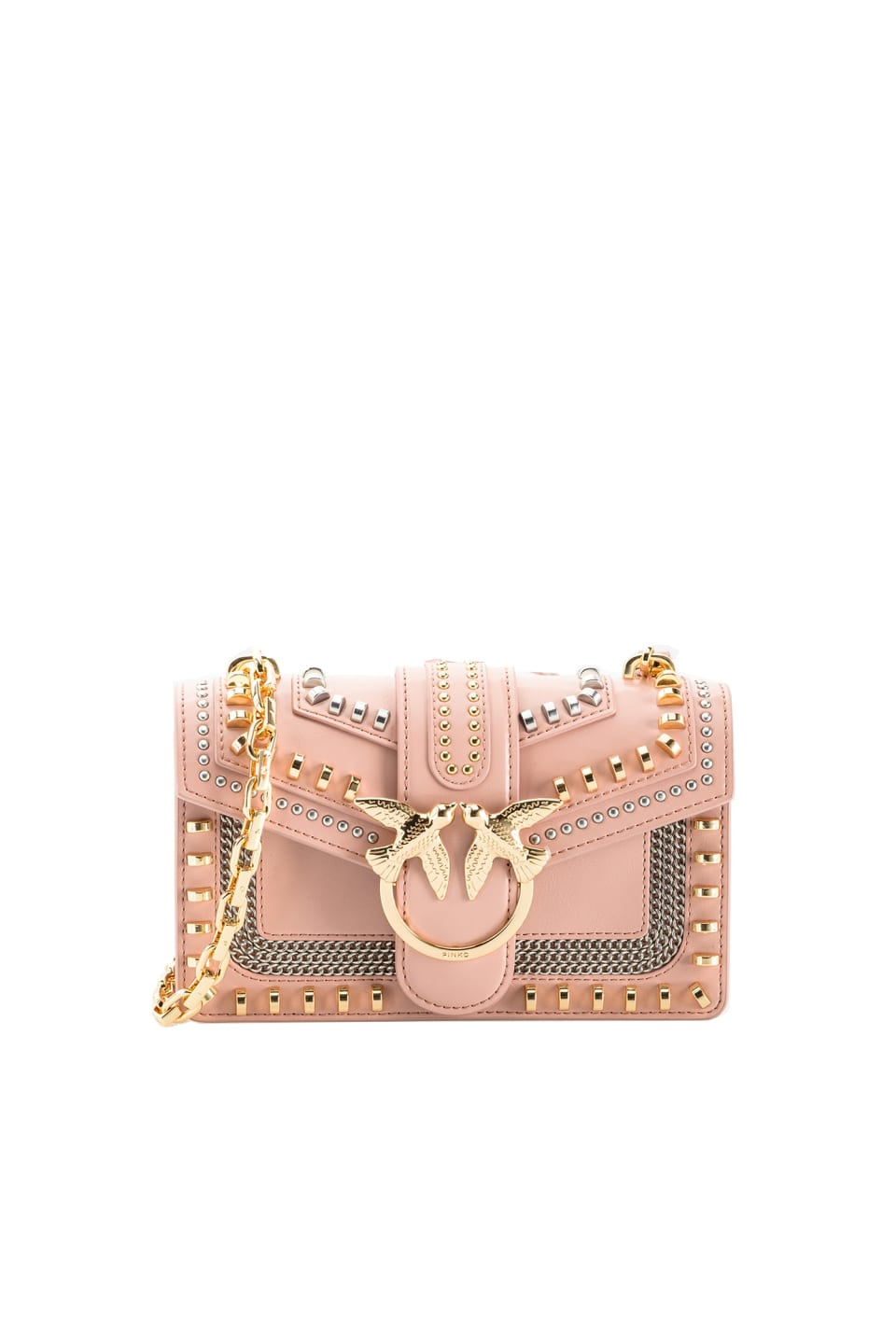 Mini Love Bag Mix Studs en cuir