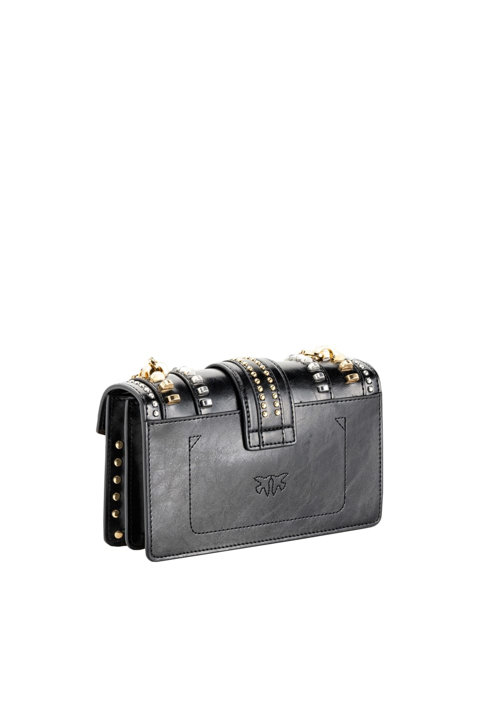 Mini Love Bag Mix Studs in leather