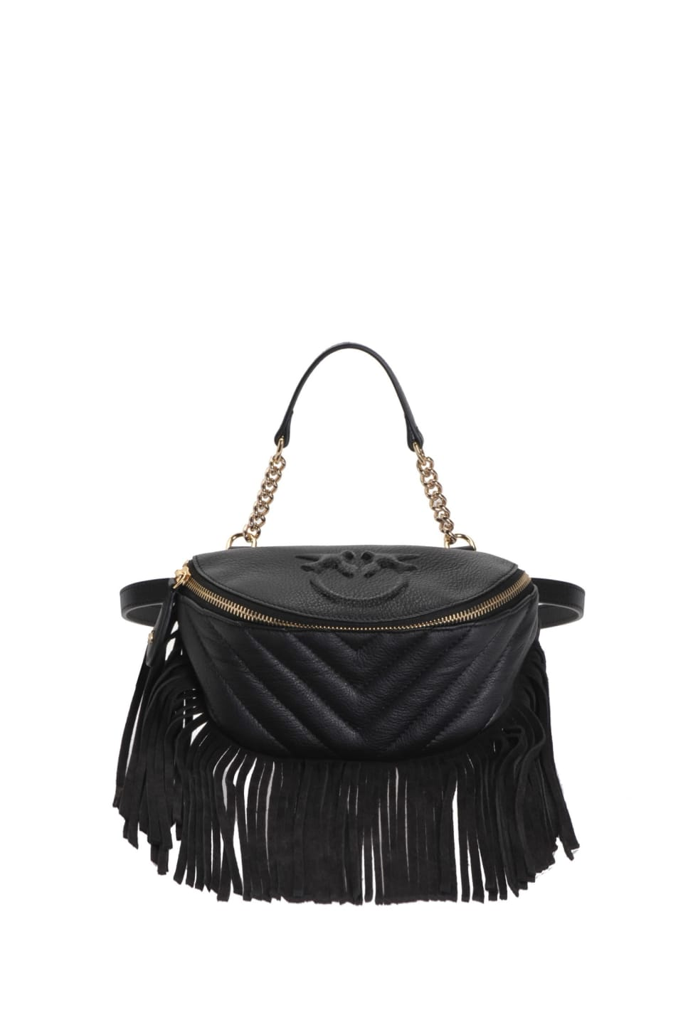 Mini Fringes Bum Bag in nappa leather - Pinko