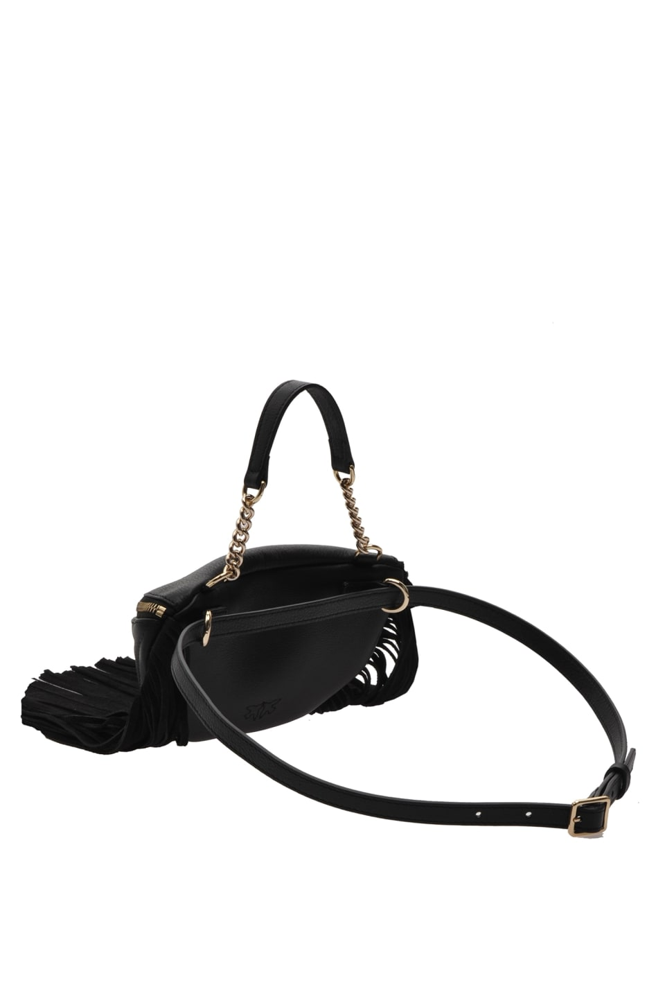 Mini Fringes Bum Bag in nappa leather
