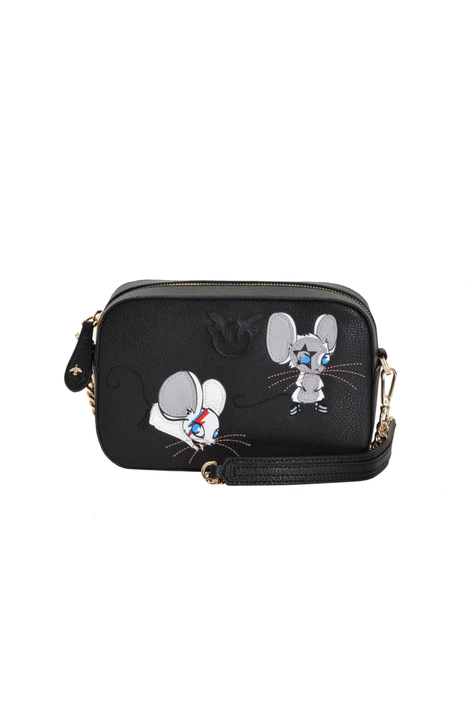 Square Bag Rocky Mouse in leather