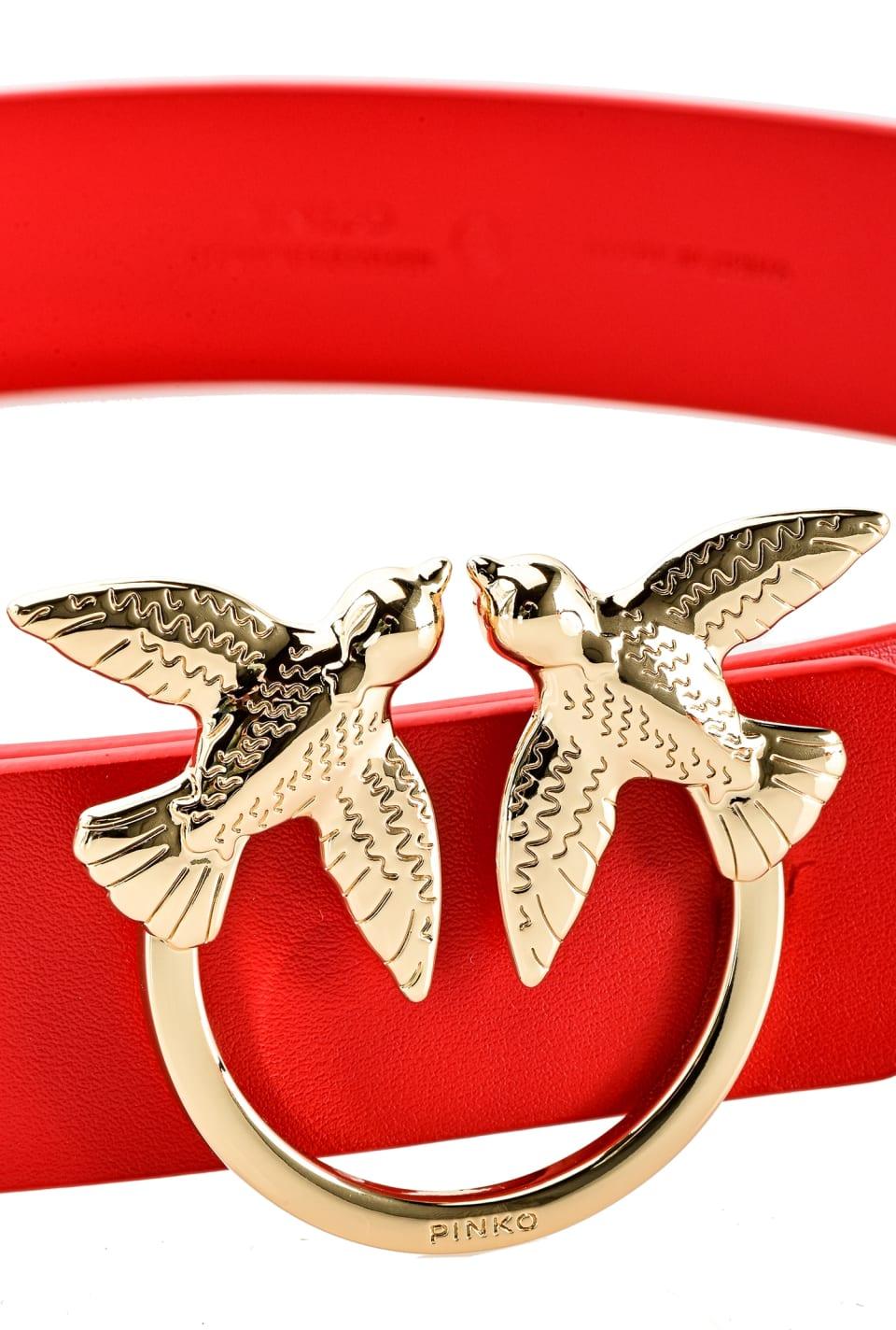 Ceinture en cuir avec boucle Love Birds