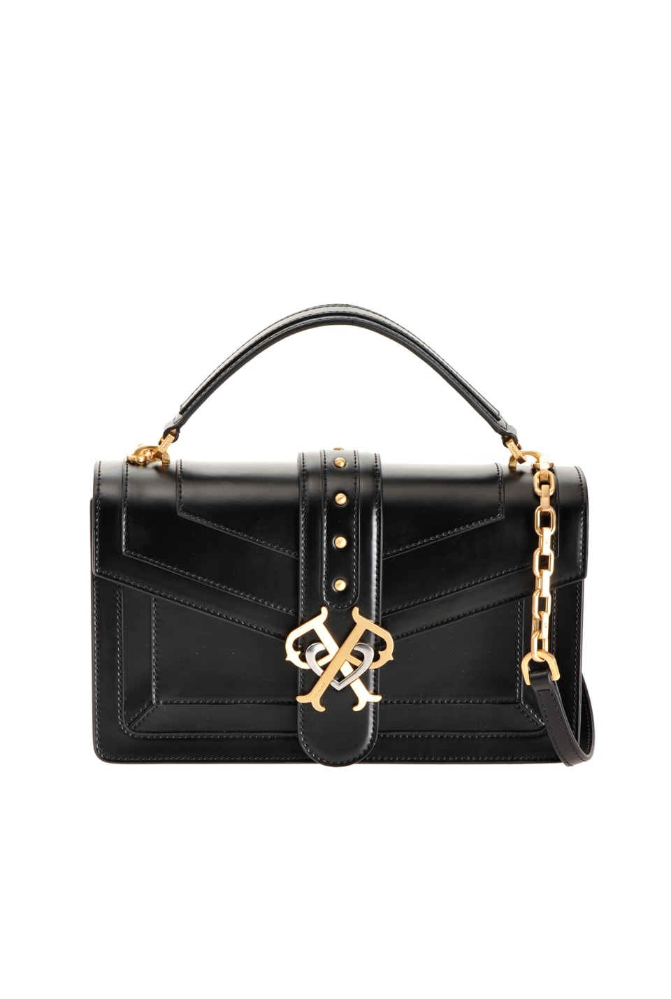 Classic Double P Bag Icon Classique in brushed leather - Pinko