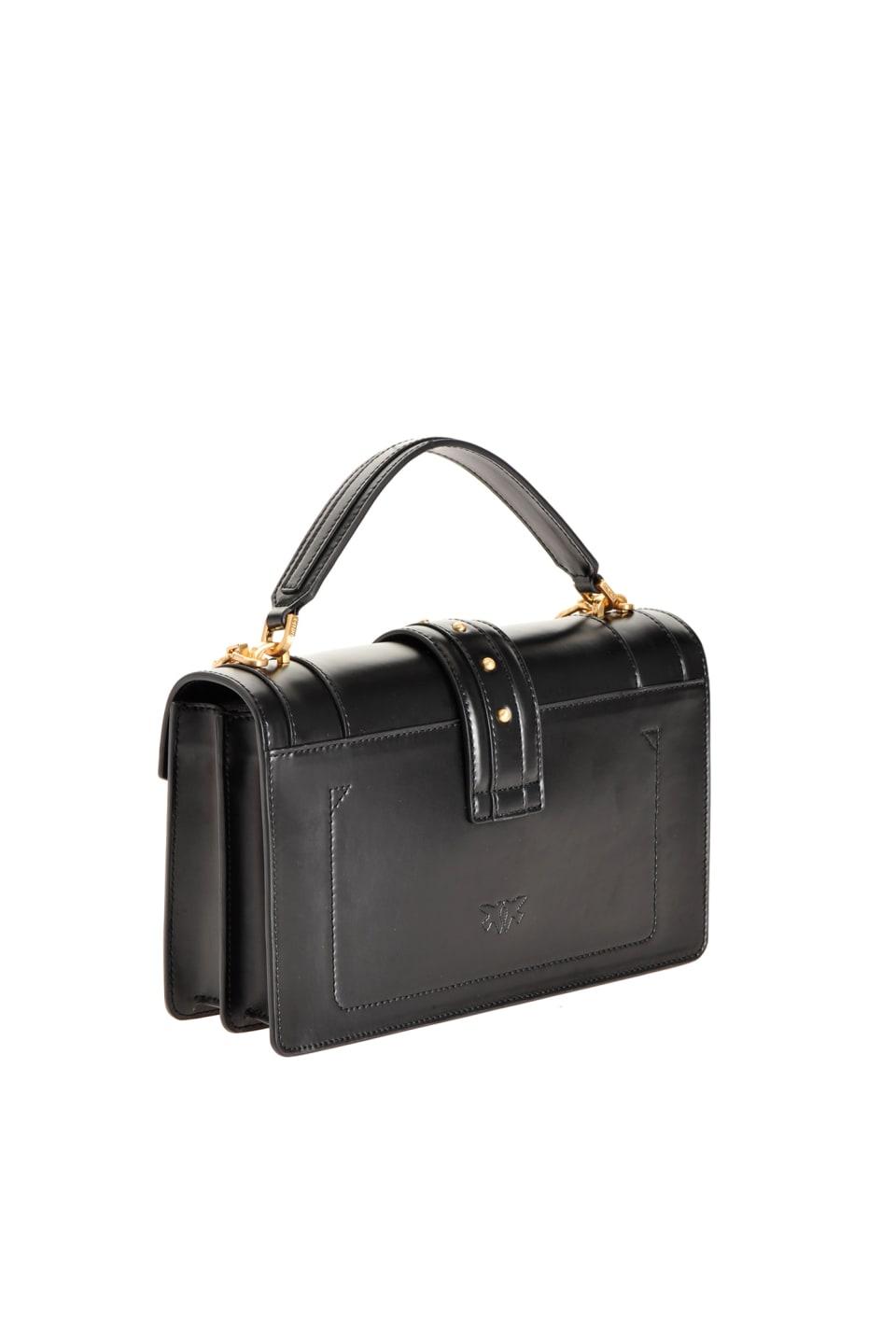 Classic Double P Bag Icon Classique en cuir brossé - Pinko