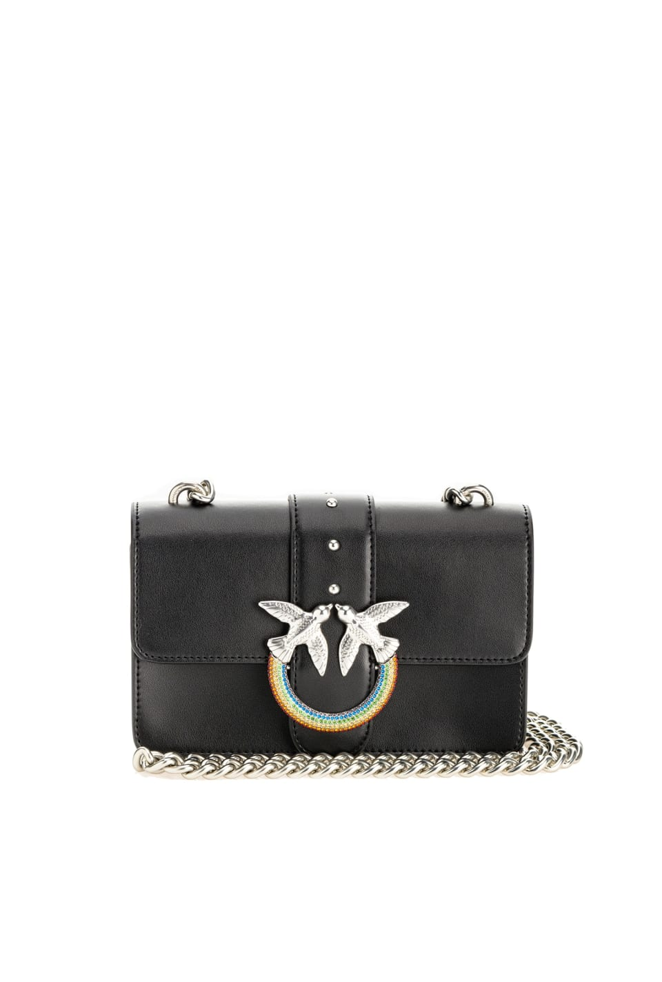 Mini Love Bag Icon Simply with rainbow buckle - Pinko
