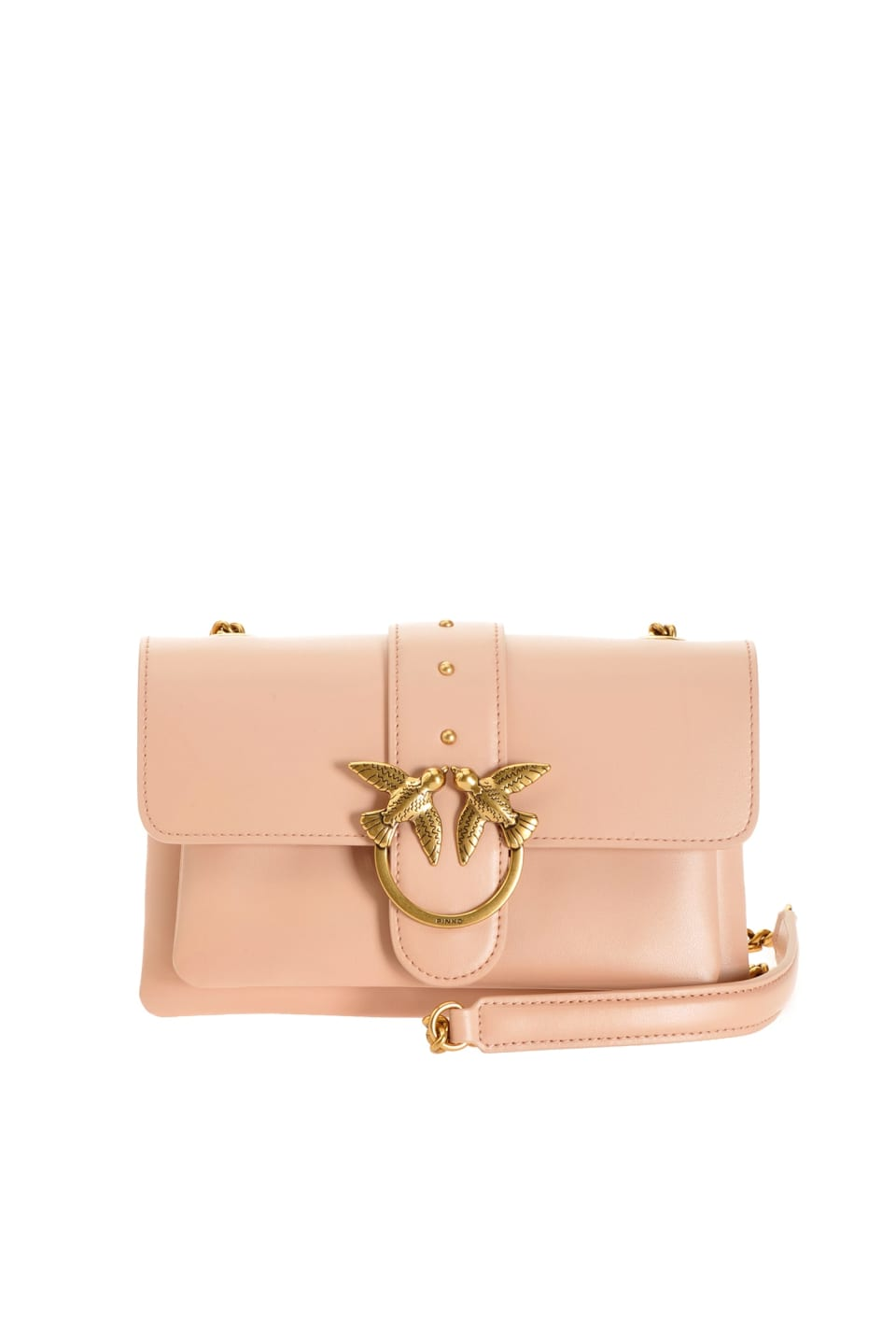 Mini Love Bag Soft Simply en cuir foulonné - Pinko