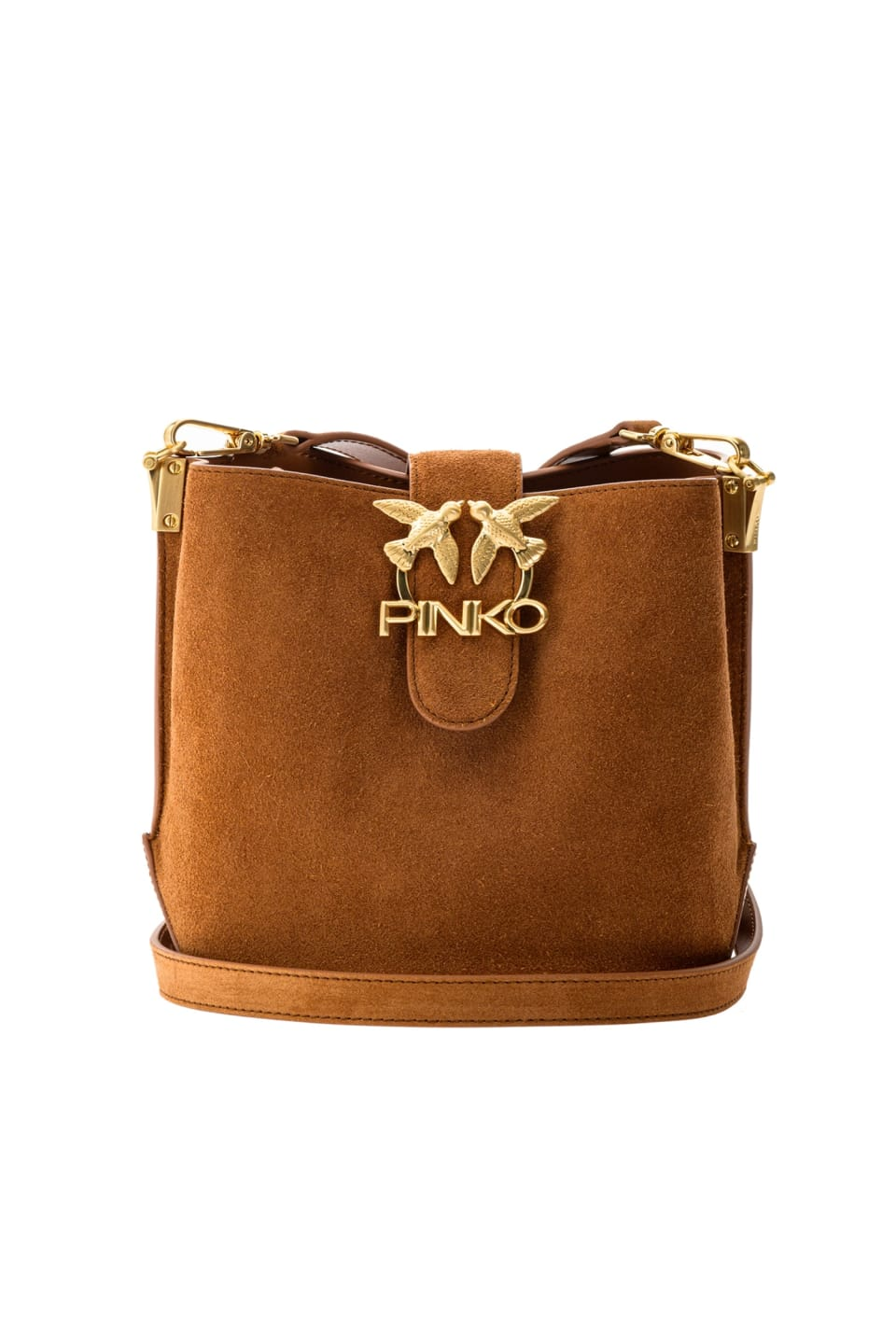 Bucket Love Bag Seventies in suede and leather - Pinko