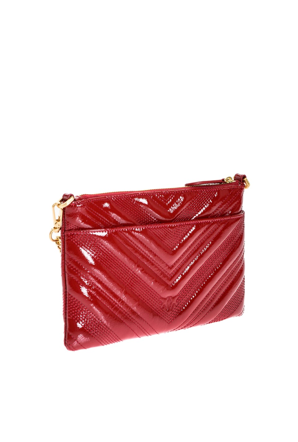 Flat Logo Bag Polish in vernice - Pinko