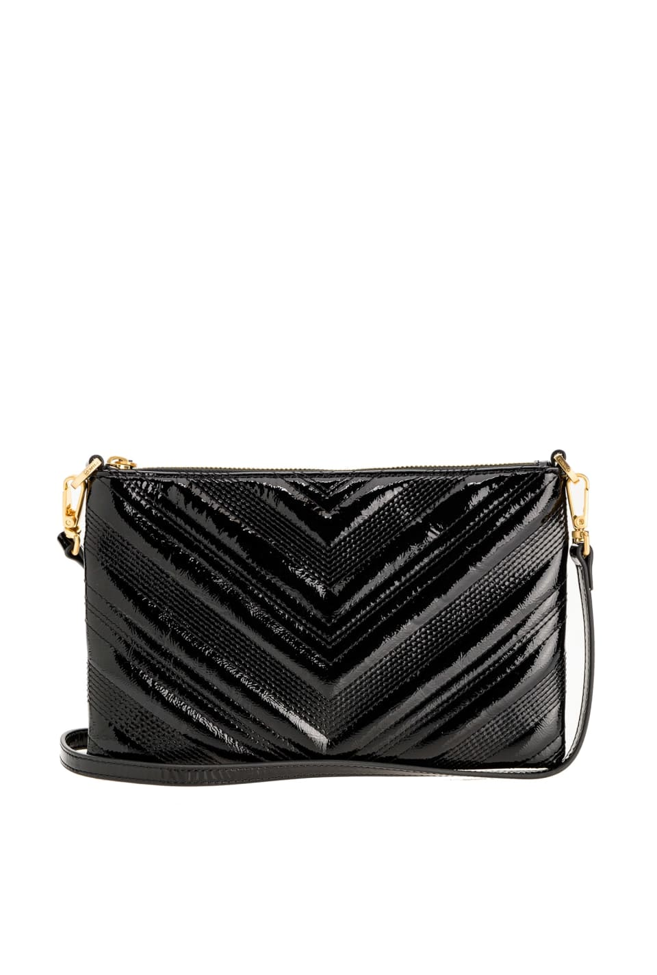 Flat Logo Bag Polish in patent leather - Pinko