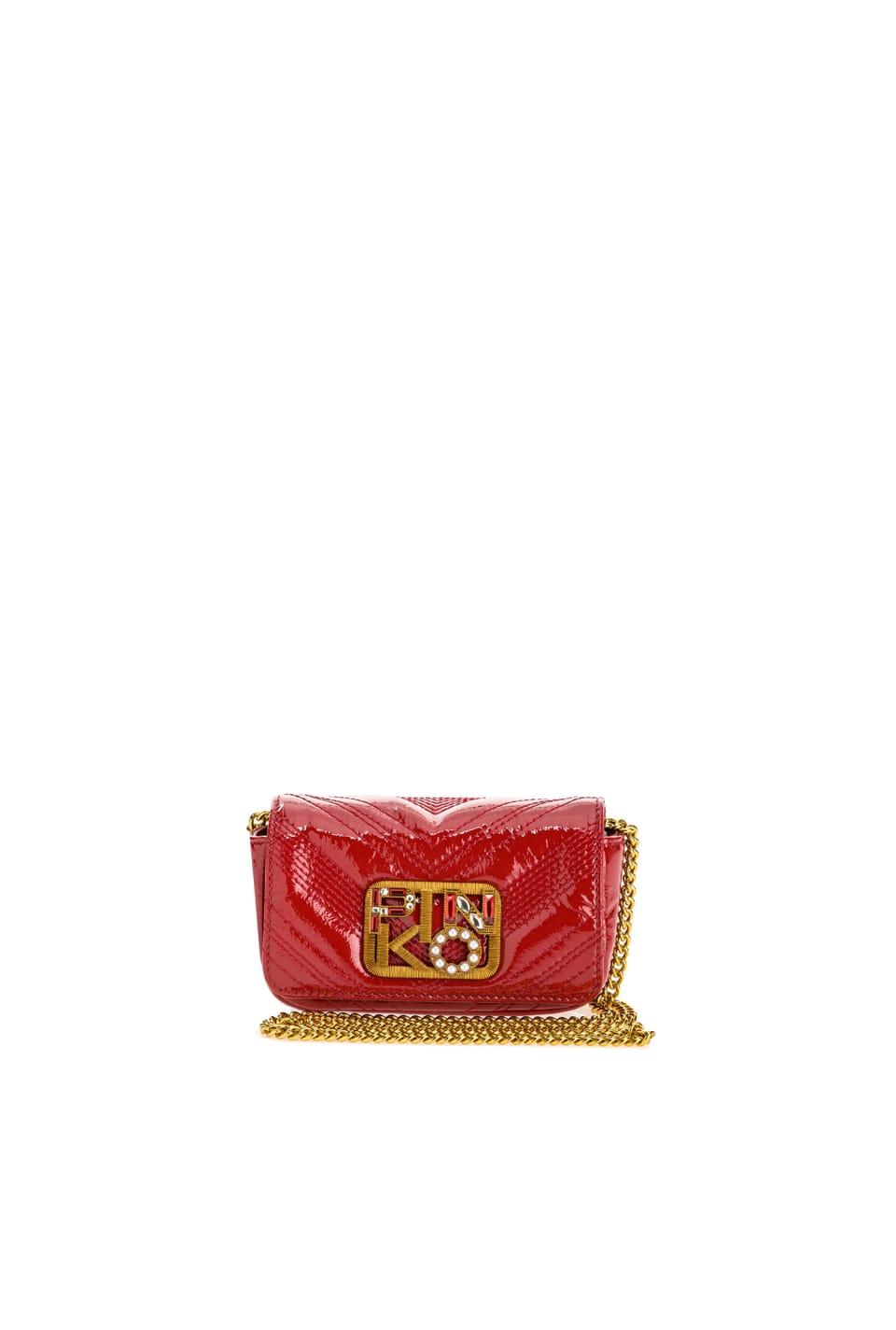 Tiny Logo Bag Polish in patent leather - Pinko