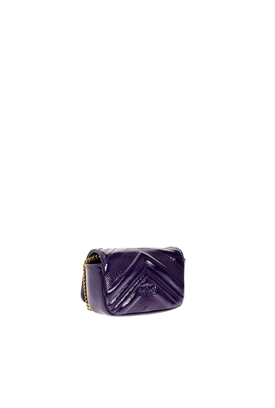 Tiny Logo Bag Polish en cuir verni - Pinko