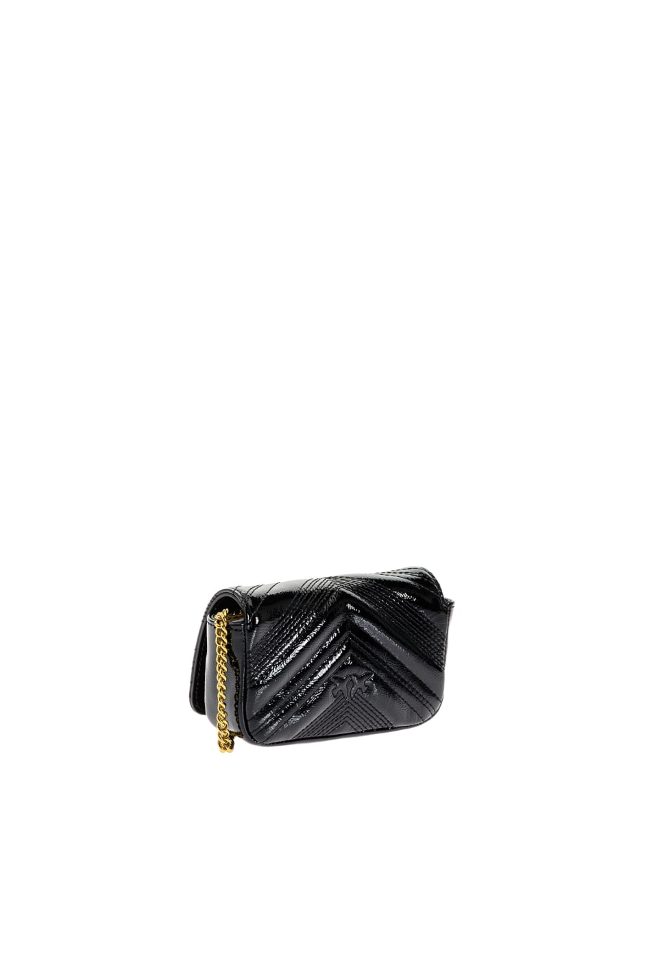 Tiny Logo Bag Polish in patent leather