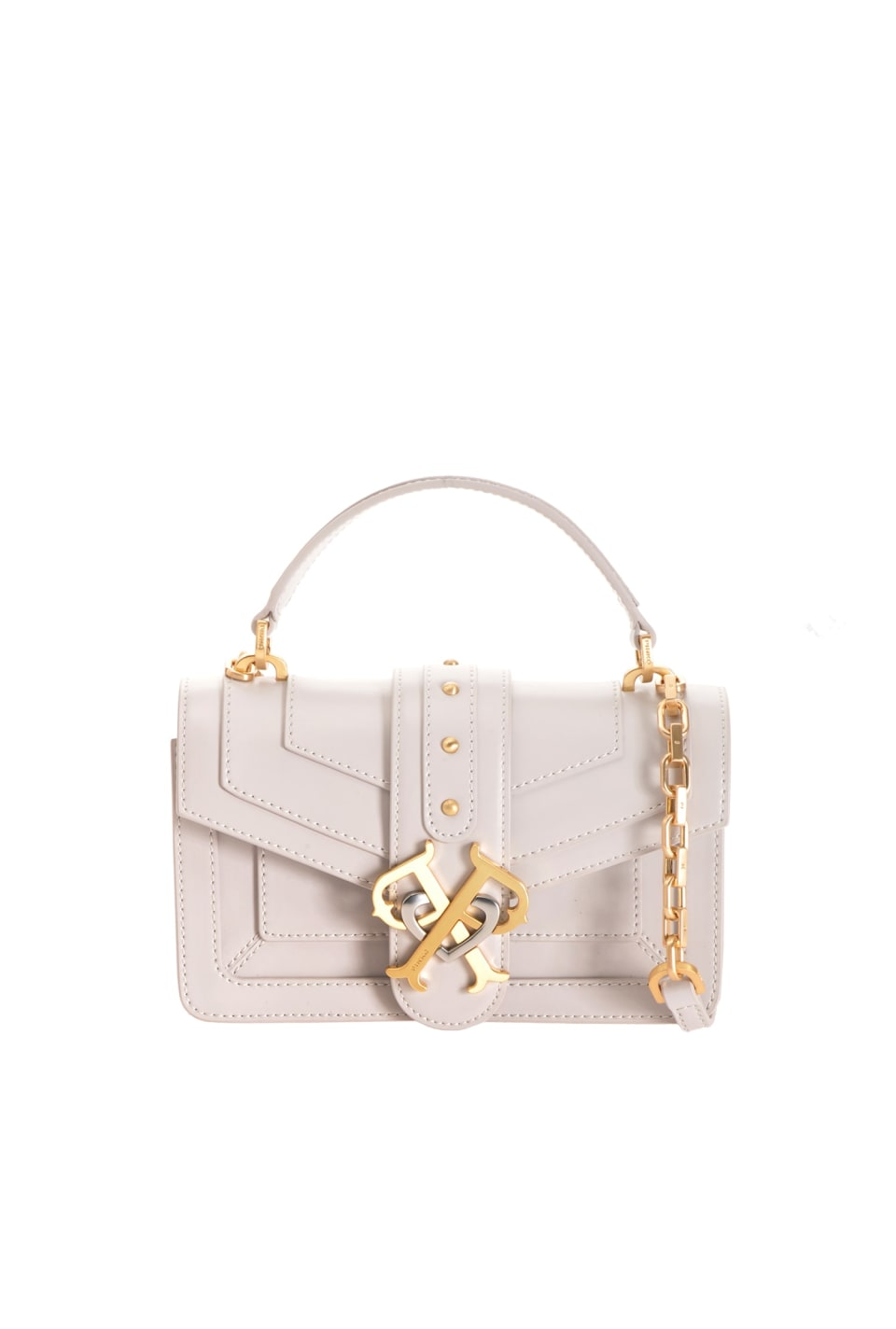 Mini Double P Bag Icon Classique in brushed leather - Pinko