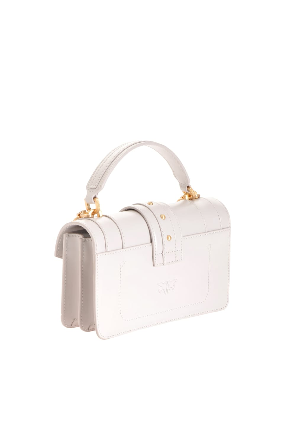 Mini Double P Bag Icon Classique in brushed leather