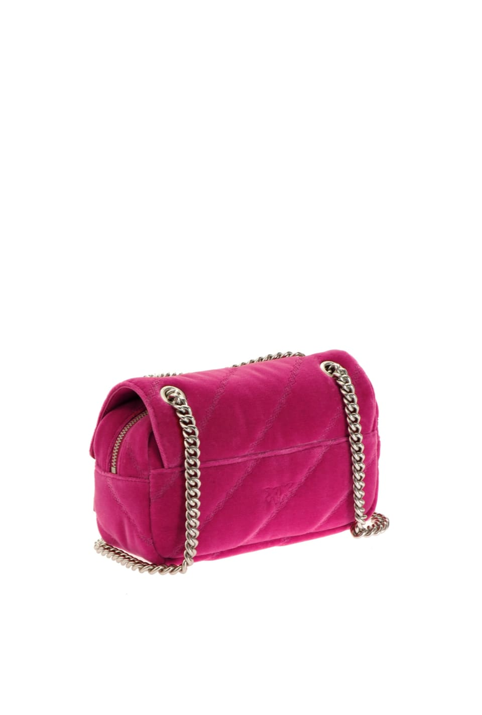 Mini Love Bag Puff Maxi Quilt in velvet - Pinko