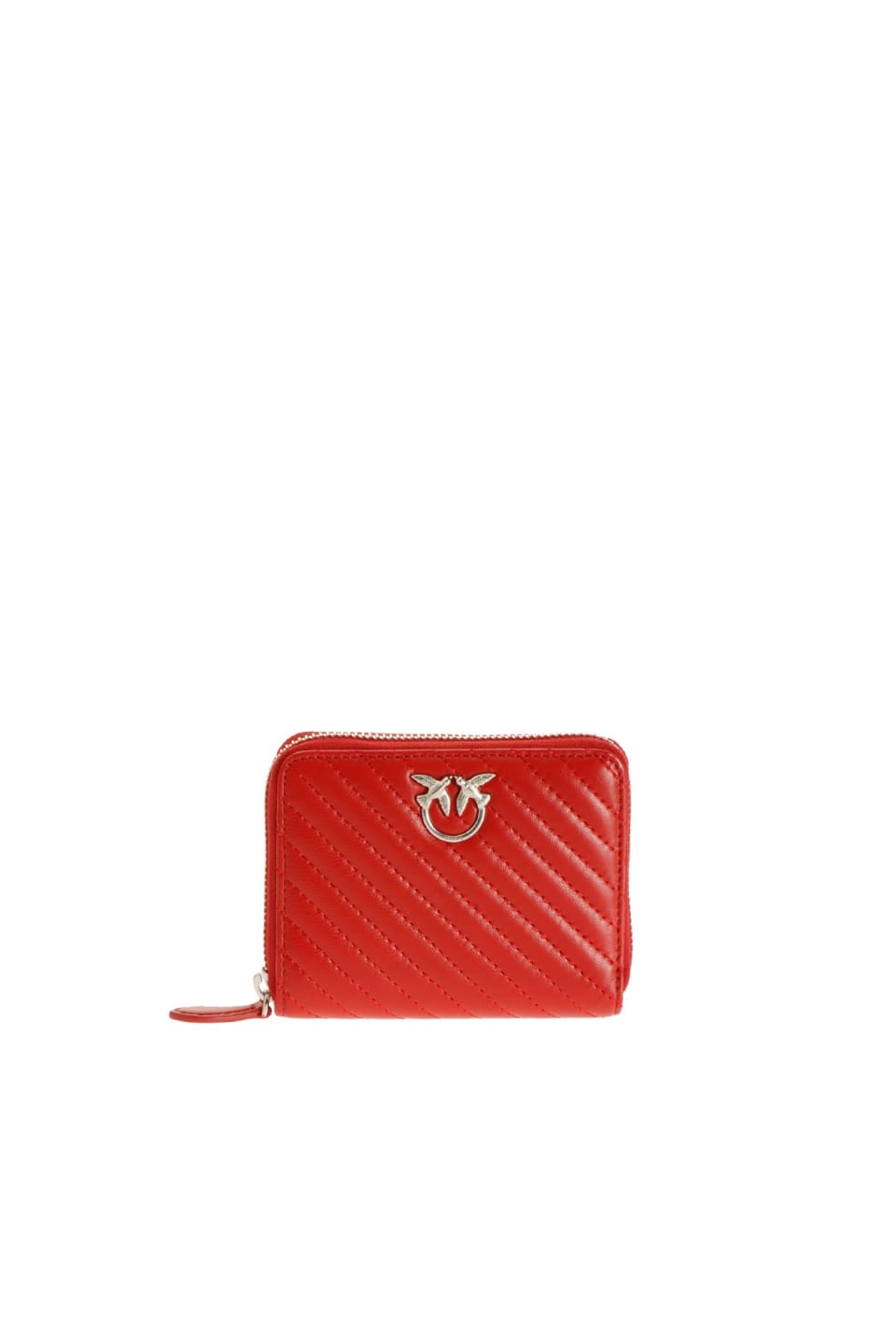 Zip-around wallet in quilted nappa leather - Pinko