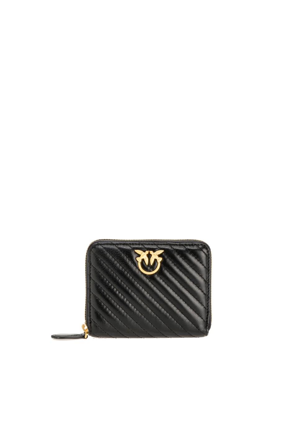 Zip-around wallet in quilted nappa leather