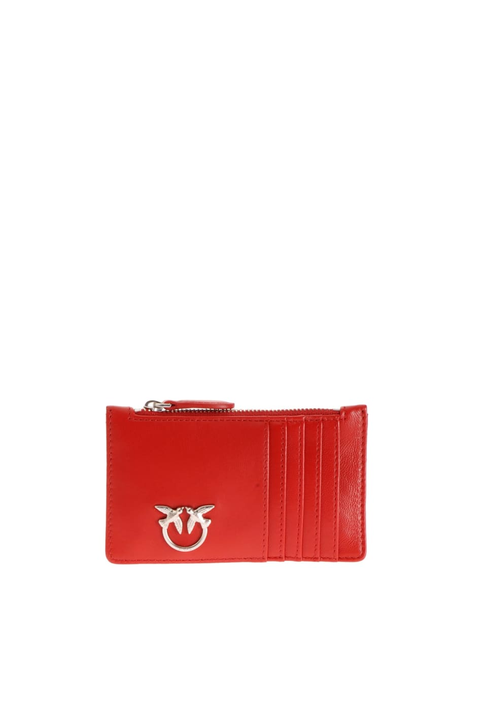 Nappa leather credit card holder with zip - Pinko