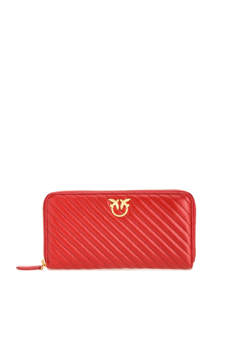 Zip-around wallet with Love Birds logo - Pinko